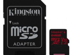 KINGSTON MICRO SD 64GB CL10 CANVAS REACT  SDCR/64GB .