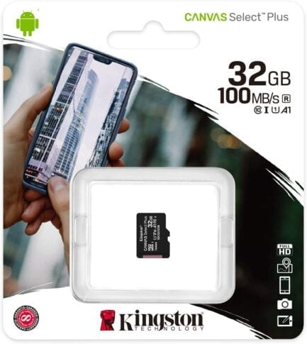 KINGSTON MICRO SD 32GB CL10 CANVAS SELECT PLUS SDCS2/32GBSP NO SDCARD ADAPTER