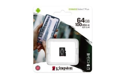 KINGSTON MICRO SD 64GB CL10 CANVAS SELECT PLUS SDCS2/64GBSP NO SDCARD ADAPTER.