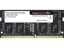 TEAM GROUP ELITE RAM SO-DDR4 16GB 3200MHZ TED416G3200C22-S01 .