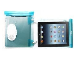 ADJ CUSTODIA/SPEAKER IMPERMEABILE PER SMARTPHONE E TABLET BLUE