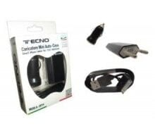 TECNO KIT DI RICARICA HOME E CAR PER APPLE 5/6/7 CAVO FLAT BLACK B-2016