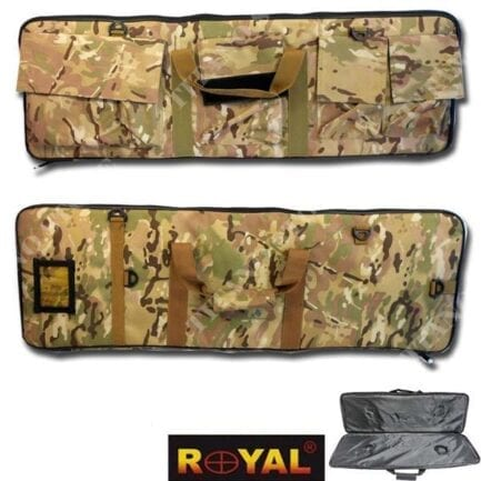 ROYAL BORSA CUSTODIA PORTA FUCILE DA SOFTAIR CON 4 TASCHE 87CM X 30CM COLORAZIONE MULTICAM B100MUL