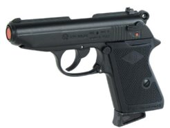 BRUNI PISTOLA A SALVE SCACCIACANI MODELLO NEW POLICE WALTER PPK 7.65 FULL METAL CALIBRO 8MM BR-2000