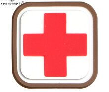 EMERSON PATCH IN PVC CROCE ROSSA MEDIC SQUARE EM5552B