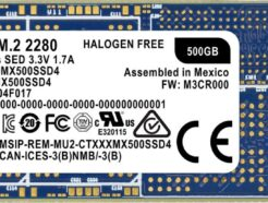 CRUCIAL SOLID STATE DRIVE SSD MX500 500GB  M.2 CT500MX500SSD4