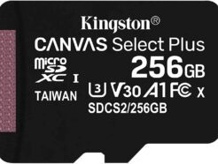 KINGSTON MICRO SD 256GB CL10 CANVAS SELECT PLUS SDCS2/256GBSP NO SDCARD ADAPTER