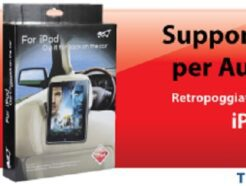 HANTOL SUPPORTO PER AUTO COMPATIBILE CON IPAD 1 E IPHONE 4 CON RETROPOGGIA TESTA T1072