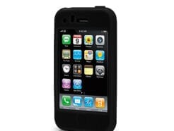 TECHMADE COVER IN SILICONE MORBIDO NERO PER IPHONE 3/3GS MPC-306
