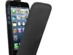 MEDIAKING COVER A FLIP IN SEMIPELLE PROTETTIVA PER IPHONE 5 NERA MKFLIP01P
