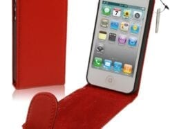 MEDIAKING COVER A FLIP IN SEMIPELLE PROTETTIVA PER IPHONE 5 ROSSA MKFLIP01R