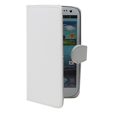 COVER IN SEMIPELLE BIANCA A FLIP PER GALAXY S3 I9300