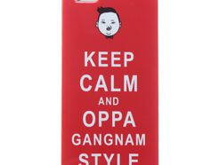 COVER IN POLICARBONATO CON SCRITTA KEEP CALM AND OPPA GANGNAM STYLE PER IPHONE 5