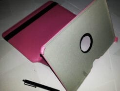 SMART COVER PER SAMSUNG GALAXY TAB 2 P5100 360° FUXIA + PENNINO + SCREEN PROTETTIVA
