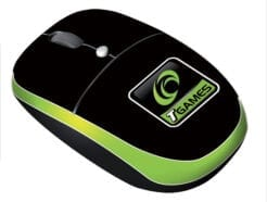 TECHMADE MINI MOUSE PER GAMING NERO E VERDE CON TASTO T-GAMES USB 2.0 TGAMES-M1128