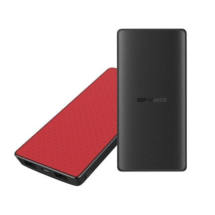SILICON POWER POWER BANK 8000Mah 2.1A PLUG & CHARGE S82 BLACK/RED