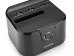 VULTECH DOCKING STATION SATA - MAX 1HDD - 3 PORTE USB 3.0 - QUICK CHARGE - NERO DKC-USB3N