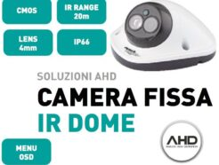 "MACH POWER CAMERA AHD CAM. DOME 1/3"" SONY 960P 4MM OSD IR 20M IP66 VS-AHFD9-103"