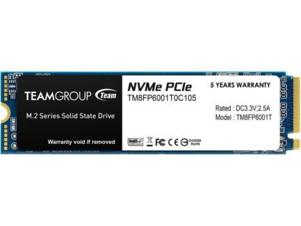TEAM GROUP ELITE SOLID STATE DRIVE SSD 1TB M.2 NVMe PCIe 3.0 4X TM8FP6001T0C101