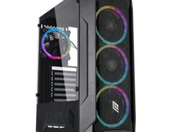 NOUA CASE MID-TOWER DEMON T4 BLACK  USB 3.0 FAN RGB NO ALIM. CS0718AG-T4K645