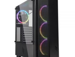 NOUA CASE MID-TOWER DEMON T8 BLACK  USB 3.0 FAN DUAL HALO RGB NO ALIM. CS0718AG-T8K645
