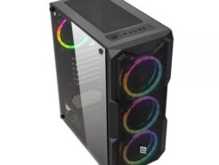 NOUA CASE MID-TOWER SMASH S1  BLACK  USB 3.0 FAN DUAL HALO RGB NO ALIM. CS1217AG-S1K945