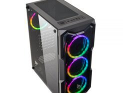 NOUA CASE MID-TOWER SMASH S2  BLACK  USB 3.0 FAN DUAL HALO RGB RAINBOW  NO ALIM. CS1217AG-S2K045