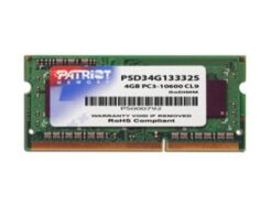 PATRIOT RAM SO-DDR3 4GB 1333MHZ PC3-10600 PSD34G13332S