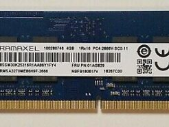 RAMAXEL RAM SO-DDR4 4GB PC4-25600 3200MHZ RMSA3310MJ86H9F
