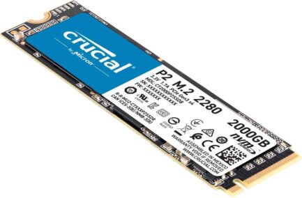 CRUCIAL SOLID STATE DRIVE SSD P2 2TB PCIe M.2 NVMe CT2000P2SSD8